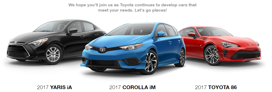 All-New 2017 Toyota Models