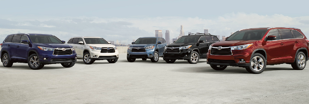 Lineup of Toyota SUVs