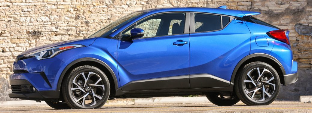 blue 2018 Toyota C-HR exterior side
