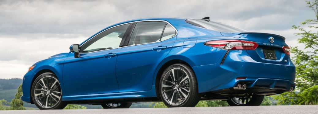 blue 2018 Toyota Camry exterior rear side