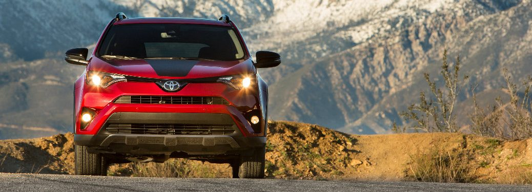 2018 Toyota RAV4 Adventure with mountain in background