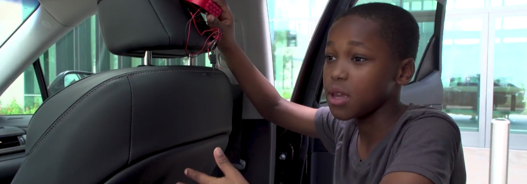 Watch video of a young inventor explaining his invention for Toyota