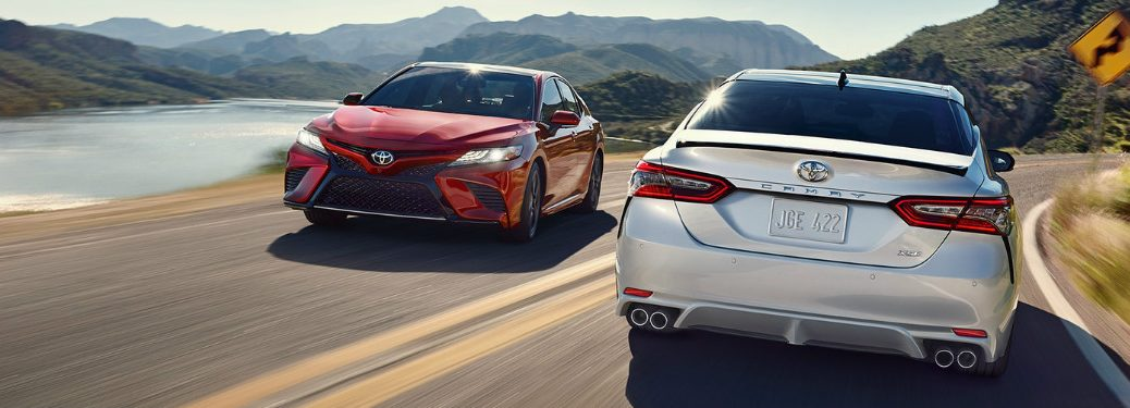 silver and red 2018 Toyota Camry models