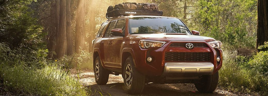 2018 Toyota 4Runner exterior front fascia and passenger side in woods