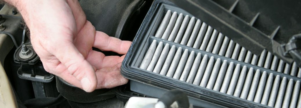 hand pulling filter of car