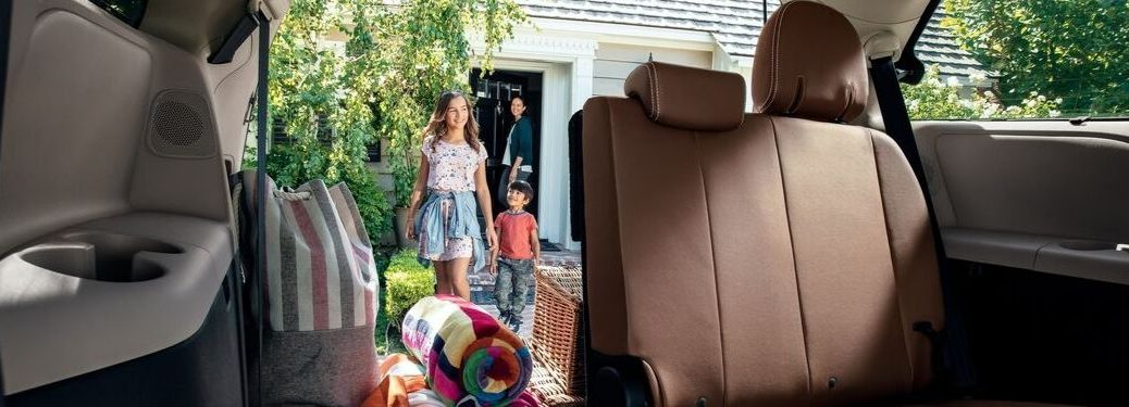 2020 Toyota Sienna rear seat and cargo area