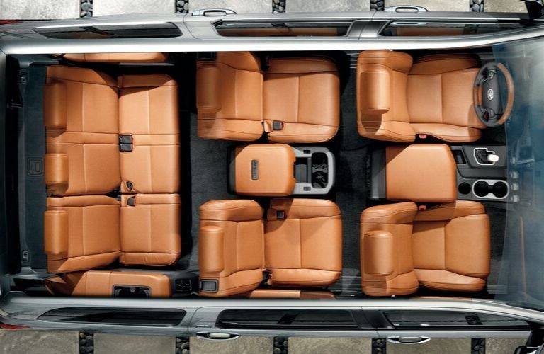 2020 Toyota Sequoia cabin viewed from above