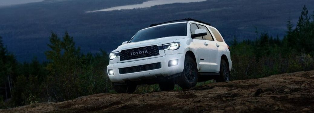 2020 Toyota Sequoia by scenic forest overlook
