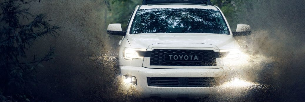 2020 Toyota Sequoia off-roading through mud