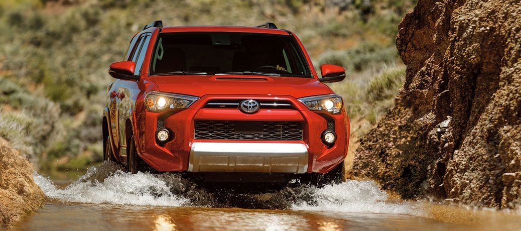 2020 Toyota 4Runner fording through water