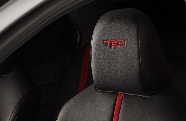 2020 Toyota Camry TRD embroidered seats