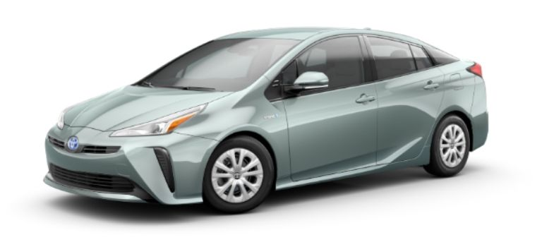 2020 Toyota Prius in exterior color Sea Glass Pearl