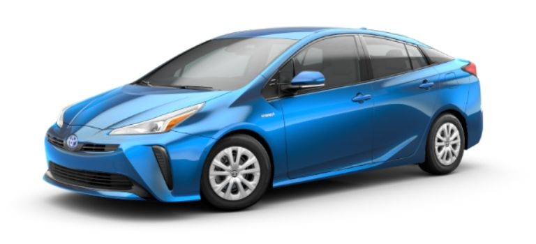 2020 Toyota Prius in exterior color Electric Storm Blue
