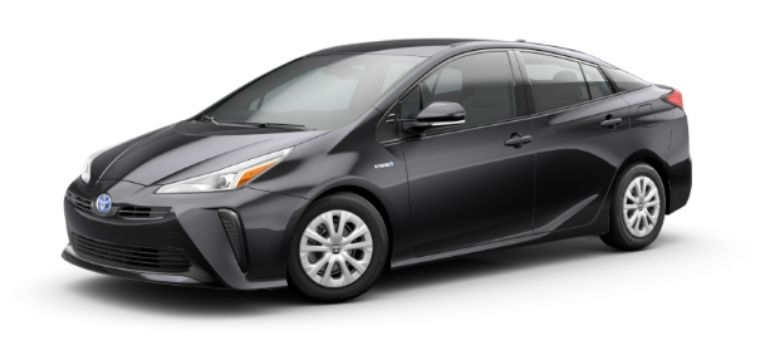 2020 Toyota Prius in exterior color Midnight Black Metallic