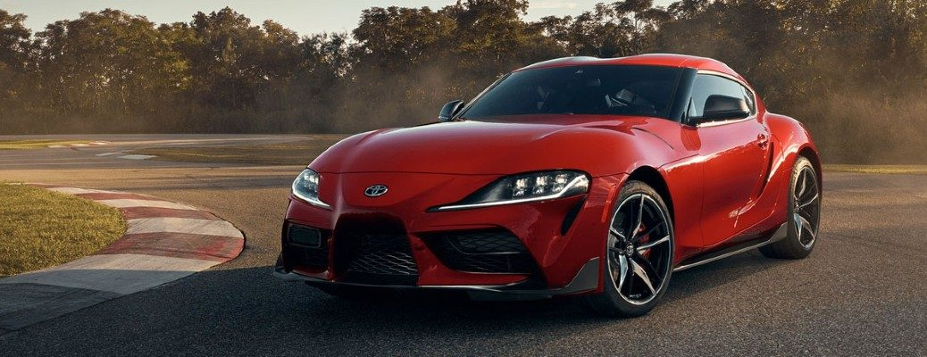 red Toyota GR Supra front view
