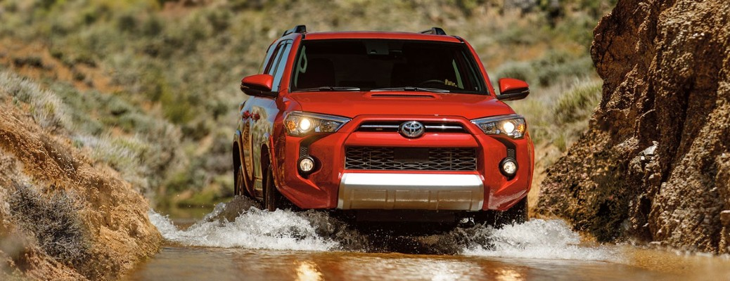 2020 Toyota 4Runner in muddy water