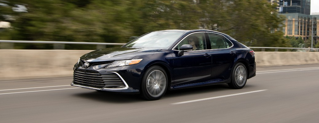 2021 Camry XLE driving on highway