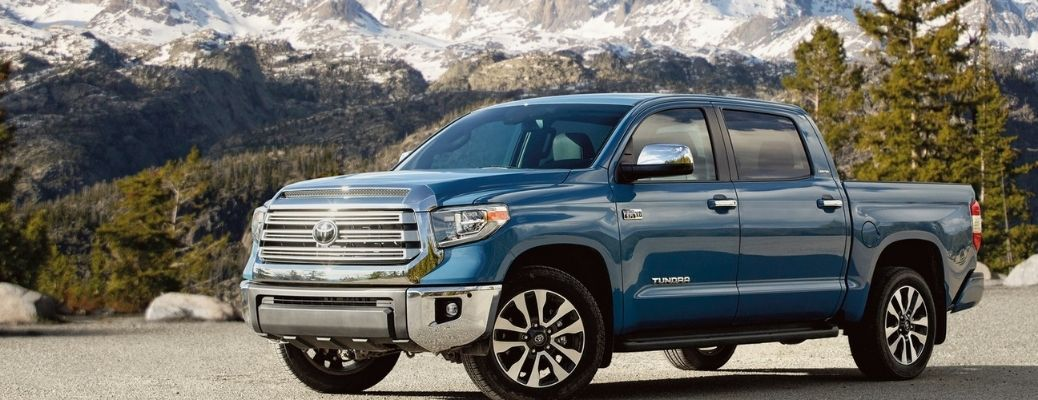 The majestic 2021 Toyota Tundra against snowcapped mountains