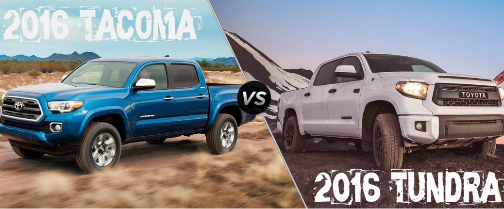 2016 Toyota Tacoma vs 2016 Toyota Tundra Grand Junction CO