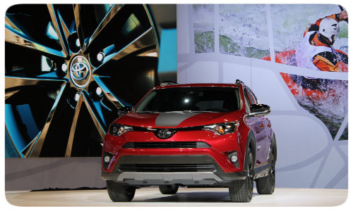 2018 RAV4 Adventure Chicago Auto Show front grille