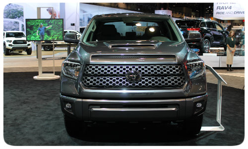 2018 Toyota Tundra TRD Sport front grille Chicago Auto Show