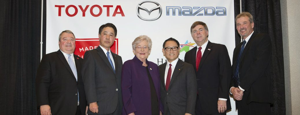 Mazda, Toyota and Alabama Officials Celebrating Annoouncement of New Manufacturing Plant in Alabama