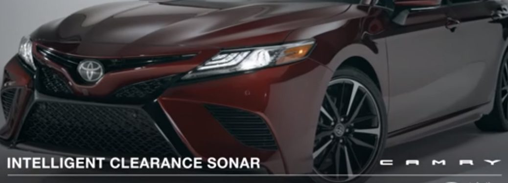 Intelligent Clearance Sonar Camry Title and Maroon 2018 Toyota Camry