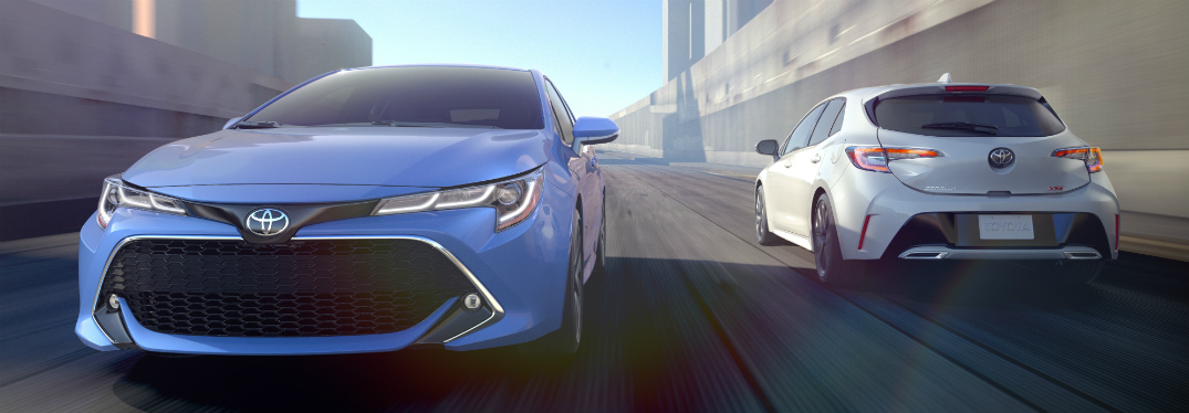 What is the release date of the 2019 Toyota Corolla Hatchback?