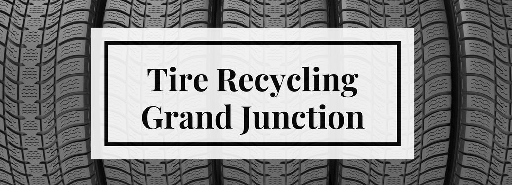 Tire Recycling Grand Junction Title and a Background of Tires