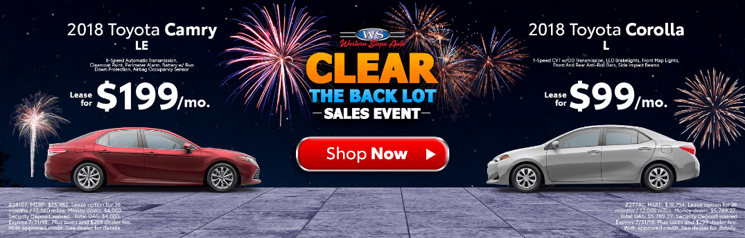 Buy an Affordable Toyota at the Clear the Back Lot Sales Event!