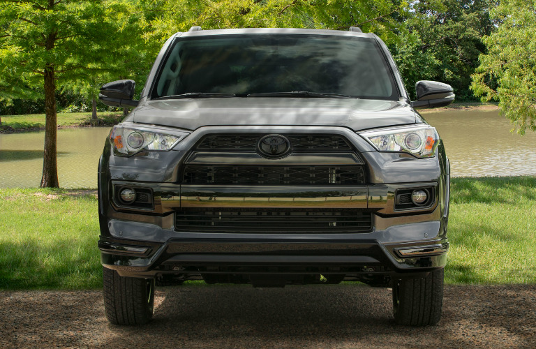 Grey 2019 Toyota 4Runner Nightshade Special Edition Parked near a Pond