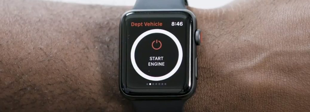 An Apple Watch with Toyota Remote Connect features