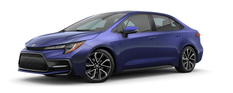 2020 Toyota Corolla in Blue Crush Metallic