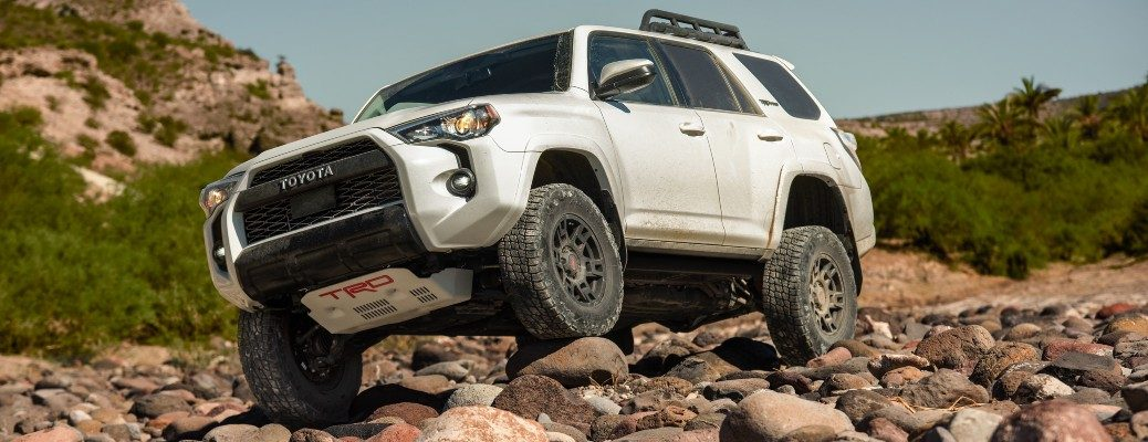 2020 Toyota 4Runner TRD white rock crawling