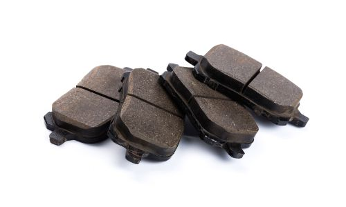 stock photo of fanned out brake pads