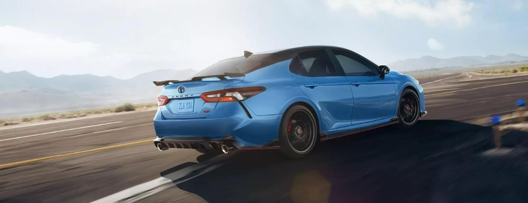 2021 Toyota Camry Hybrid moving on the road