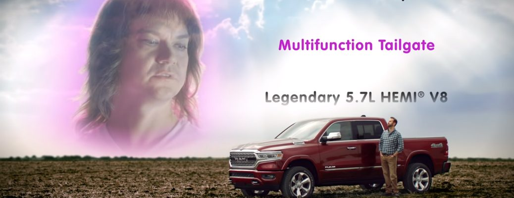 Maximus Stëel singing I Love Your Features song for Ram Trucks commercial