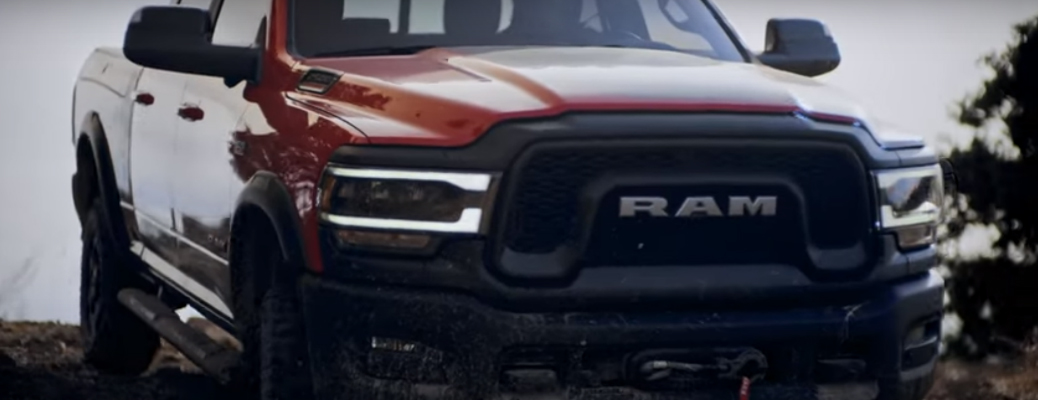 Front view of red 2020 Ram 2500 Power Wagon