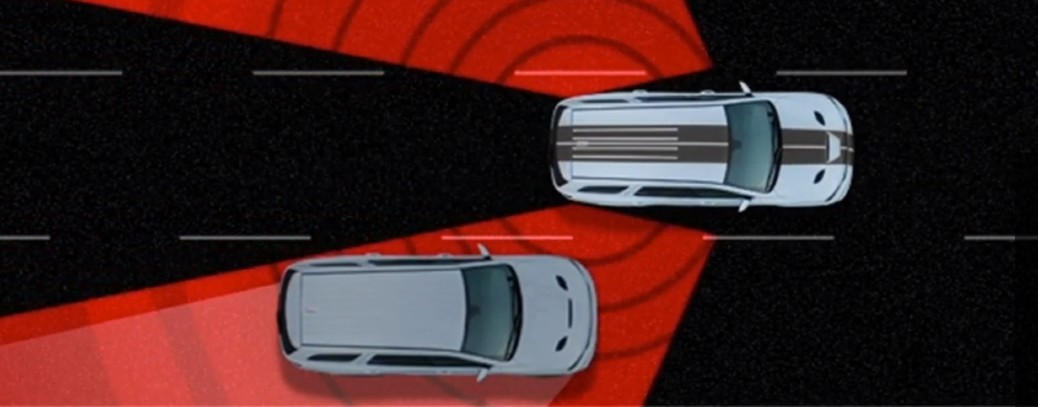 Demonstration of a 2020 Dodge Durango using the Blind Spot Monitoring System