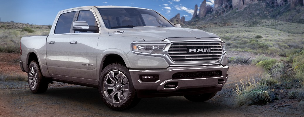 2021 Ram 1500 Limited Longhorn 10th Anniversary Edition exterior shot parked in a canyon valley
