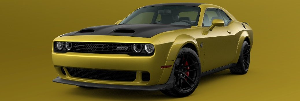 2021 Dodge Challenger SRT Hellcat Widebody Gold Rush Exterior Driver Side Front Angle