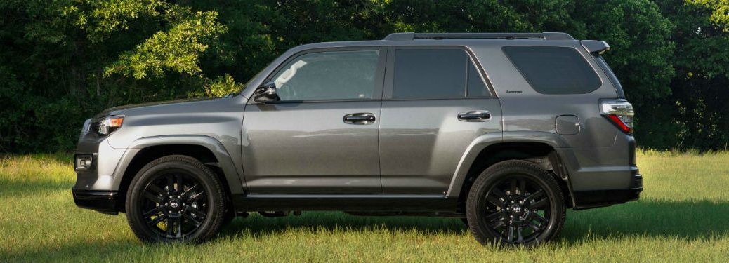 side view of a gray 2019 Toyota 4Runner