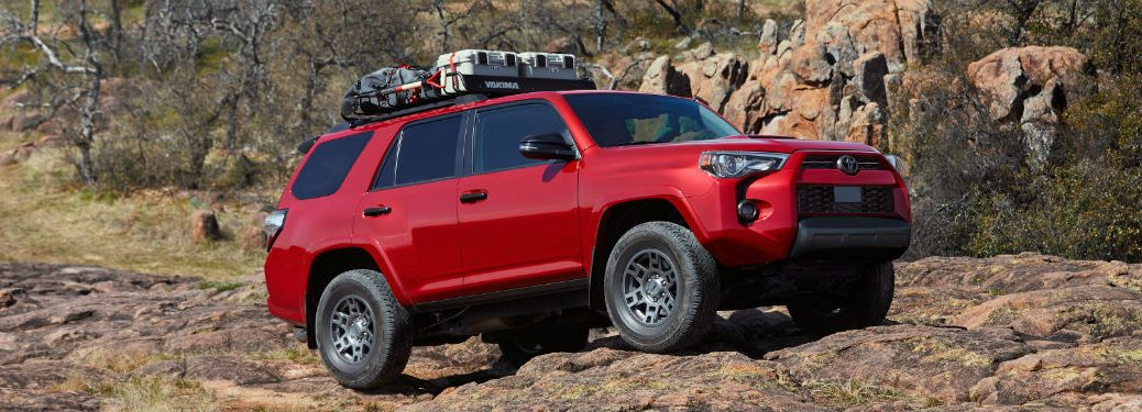 side view of a red 2020 Toyota 4Runner