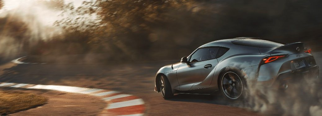 2021 Toyota GR Supra driving on a track