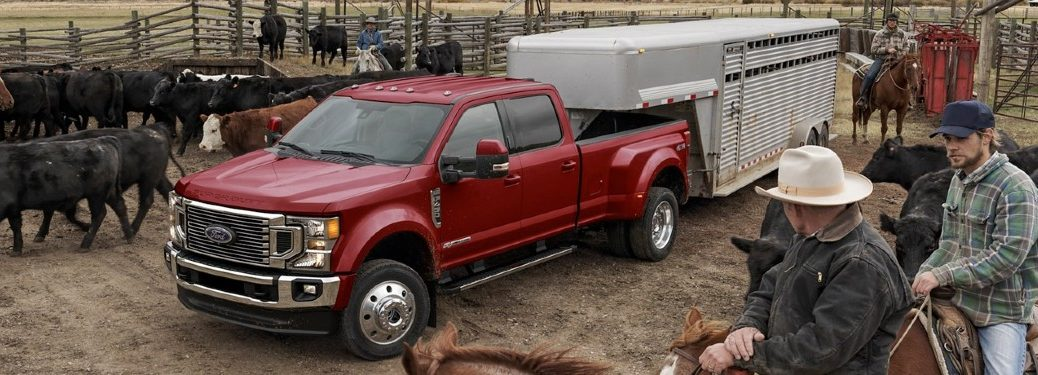 2020 Ford F-450 at cattle ranch