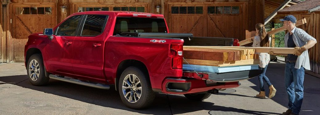 2021 Silverado 1500 loaded with lumber