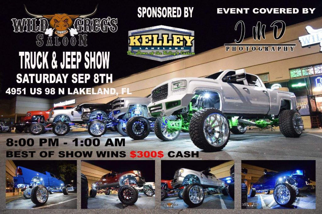 Check out the best lifted trucks and Jeeps in Lakeland on September 8th!