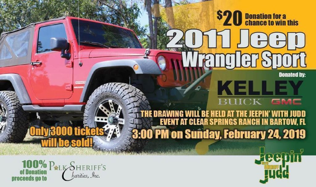 Get raffle tickets for the Jeepin's with Judd Cheep Jeep!