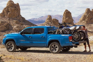 What is the towing capacity of the 2016 Toyota Tacoma?