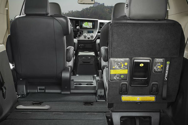 do the seats in the 2017 toyota sienna fold flat?